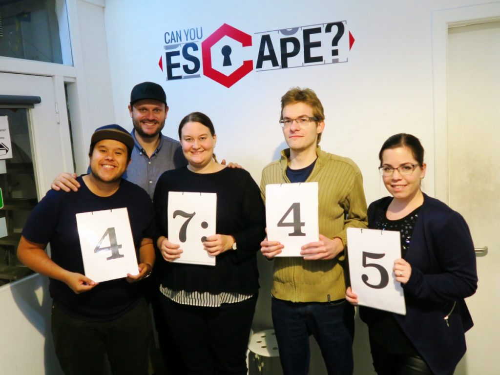 Bears Escape Team with finishing time of 47:45 minutes at Can you Escape? Edinburgh